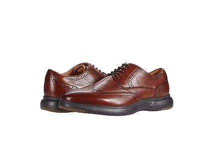 Florsheim Flair Wing Tip Oxford (Cognac Leather/Brown Sole) Men