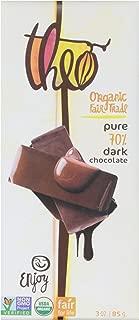 Theo Chocolate Organic Dark Chocolate, 70 % Cacao, 3 Ounce