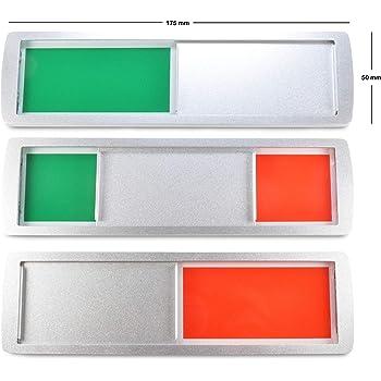 Indicador para puerta corredera, ocupado (rojo), libre (verde ...