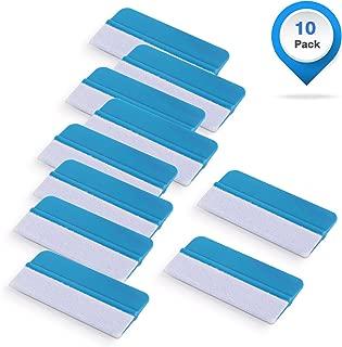 Gomake 10 Pack Mini Vinyl Wrap Tools Felt Edge Squeegee Scratch Free for Auto Vinyl Wraps Application Tool Tint Film Wallpaper Tool Blue
