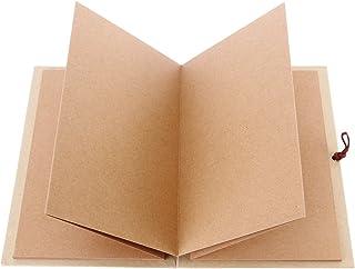 LUOEM Kraft papier relié Accordéon Style bricolage Photo Ablum livre 36 Page blanc Scrapbook pour l'obtention du diplôme a...