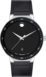 Movado Men's Swiss Sapphire Black Rubber Strap Watch 41mm (Model: 0607406)