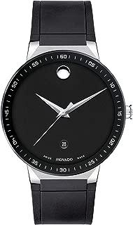 Men's Swiss Sapphire Black Rubber Strap Watch 41mm (Model: 0607406)