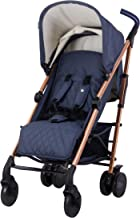 My Babiie Rose Gold and Navy Baby Stroller – Lightweight Baby Stroller with Carry Handle – Rose Gold Frame and Navy Blue Canopy – Lightweight Travel Stroller – Suitable from Birth – 33