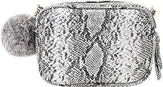 YAOSEN Women Snakeskin Pattern Shoulder Bag Purse with Pompon