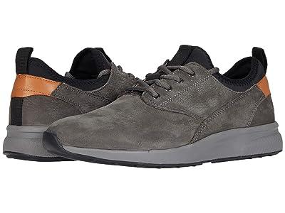 Johnston & Murphy Keating Plain Toe Sneaker (Charcoal Tumbled Nubuck) Men