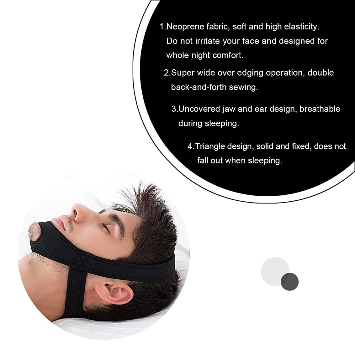 所持パトワマラドロイトNOTE アンチいびきストラップアンチいびき停止いびき顎ベルト睡眠サポート用女性マンケア睡眠ツール最高品質