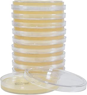 Nutrient Agar Plates, Deep Fill, a Standard Culture Medium for Growing a Wide Variety of Microorganisms Used in Water, Wastewater, Food, and Dairy Tests, 10 per Pack, by Hardy Diagnostics