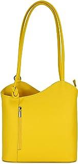 Belli italienische Ledertasche Backpack Classic 2in1 Damen Rucksack Leder Handtasche Schultertasche - 28x28x8 cm B x H x T