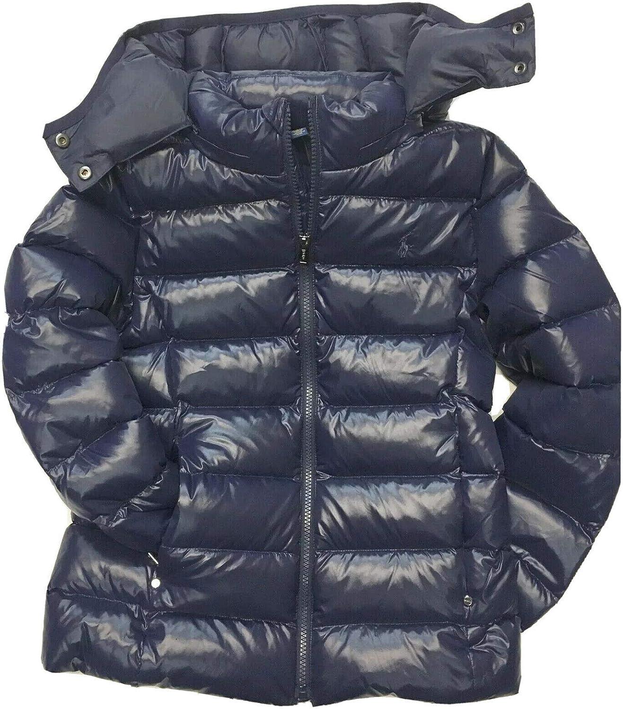 RALPH LAUREN POLO Girls Jacket Kids Puffer Down Coat Navy Blue