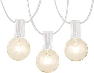 AmazonBasics PL100-50-WHT Patio String Light, 50 Feet, White