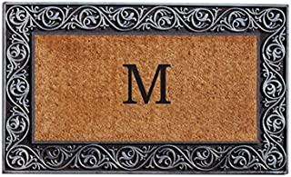 Home & More 10002SILVM Prestige Silver Monogram Doormat (Letter M)