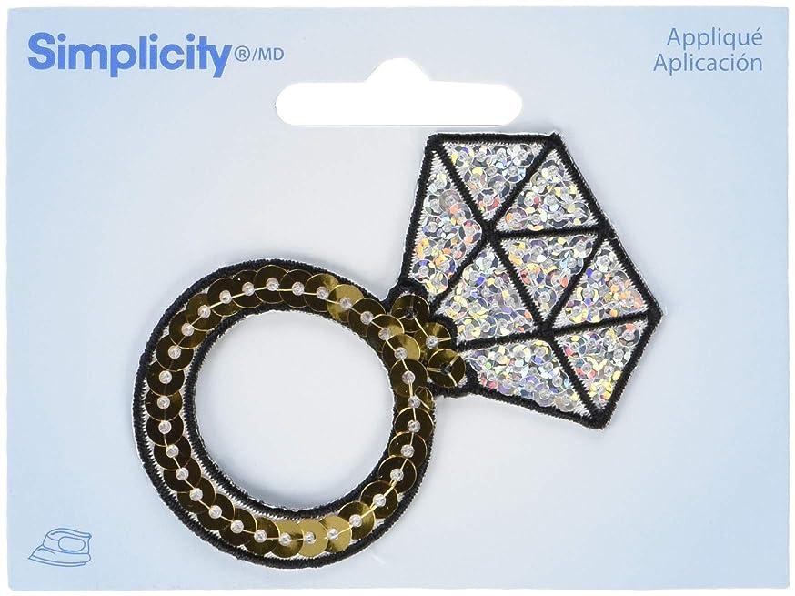 Wrights Diamond Ring Sequin Iron-On Applique