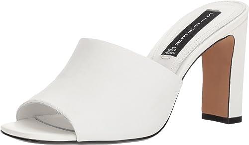 STEVEN STEVEN by Steve Madden Wohommes Jensen Heeled Sandal, blanc Leather, 10 M US  gros prix discount