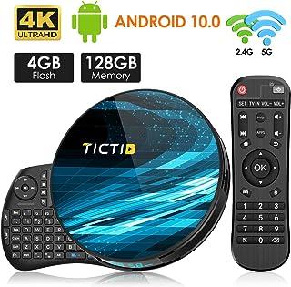 comprar comparacion TICTID Android 10.0 TV Box T8 MAX【4G+128G】con Mini Teclado inalámbirco con touchpad RK3318 Quad-Core 64bit WiFi-Dual 5G/2....