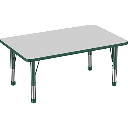 Flash Furniture 24 W X 48 L Rectangular Oak Thermal Laminate Activity Table Height Adjustable Short Legs Furniture Decor