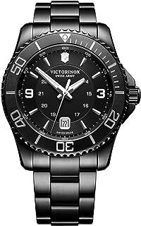 Victorinox - Hombre Maverick Black Edition - Reloj de Acero Inoxidable de Cuarzo analógico de fabricación Suiza 241798