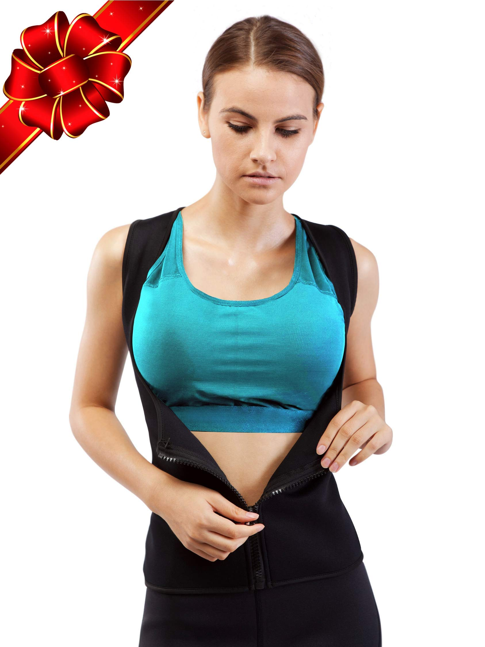 XS-6XL Sweat Vest for Women - Get Faster Result /& Boost Your Workout Motivation - Weightless Neoprene Sauna Shirt Designed in The USA