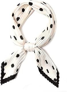 Silk Scarfs for Women, Pleated Bandana Headband. Beautiful Head Scarf for Women (37 Colors)