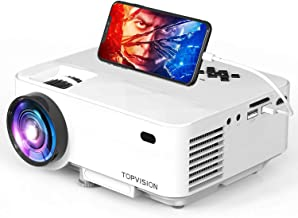 TOPVISION Mini Video Projector 4500LUX Outdoor Movie Projector with Synchronize Smart Phone Screen,Full HD 1080P Supported...