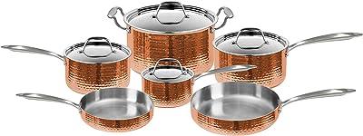 Fleischer & Wolf Seville Hammered Copper 10-Piece Cookware Set