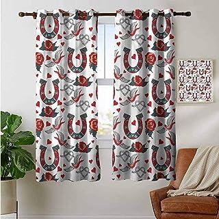 petpany - Cortinas Decorativas para Sala de Estar, diseño de herraduras, poliéster, Color 12, 42