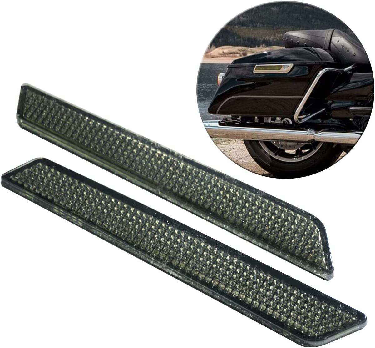 YHMTIVTU Saddlebag Reflectors Latch cheap New Shipping Free Shipping Covers Safety Side Visibilit