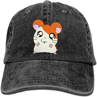 Daqinghjxg Mens/Womens Hamtaro Denim Fabric Baseball Cap Adjustable Hip Hop Caps