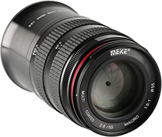MEKE 85mm F2.8 Macro Full Frame Manual Focus Medium Telephoto Lens for Nikon Z Mount Cameras Z5 Z6 Z7 Z50