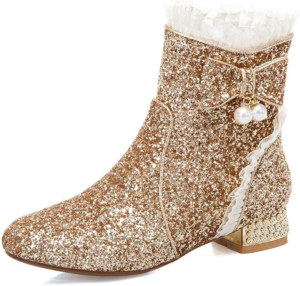 5%OFF SO SIMPOK Women's SquareToe Chucky Boots Block Ankle Ladies 超安い Heel