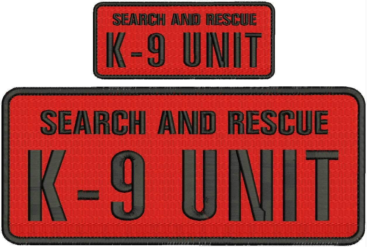 Superior Hook on Back Embroidered Popular standard Patch of and Search K9 Rescue Embr Unit
