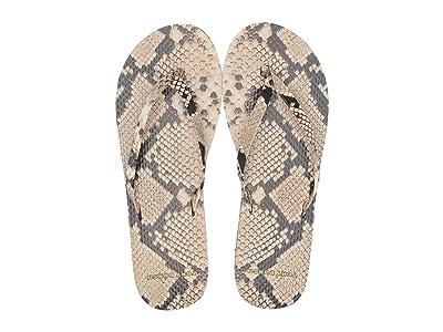 Tory Burch Printed Leather Flip-Flop (Desert Roccia) Women