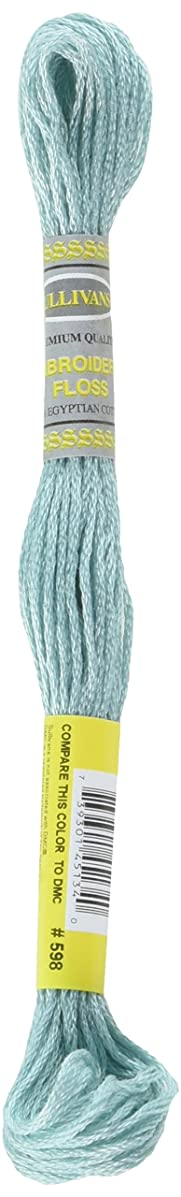 Sullivans Six Strand Embroidery Cotton 8.7 Yards-Light Turquoise 12 per Box