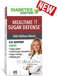 Diabetes Doctor Mealtime Sugar Defense (Sugar-Blocker) - Reduce Blood Sugar Spikes and Carbohydrate Absorption -Stable Blood Glucose Levels for Type 2 Diabetes Support and Weight Loss Support