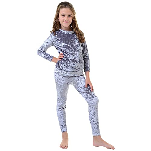 NEW Girls Velour Lounge Wear Silver 7,8,9,10,11,12,13 Years Leisure Set Gold