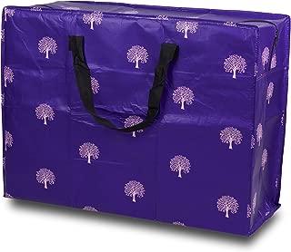 Large 4 Bolsas de lavander/ía de tama/ño Muy Grande para Almacenamiento en casa o en el /ático con Cremallera Grande y una Bolsa de Almacenamiento de algod/ón Exclusiva Larissa /& Co Blue Check
