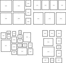 IKEA Matteby - Wall Template for Hanging Picture Frame Collage at Home, School, Work [Poster Template Does Not Include Actual Frames]