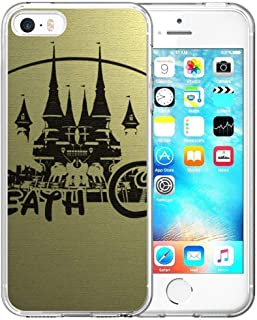 DISNEY COLLECTION Clear Crystal iPhone 5, iPhone 5S, iPhone SE, iPhone 5/5S/SE Phone Case Soul Eater Anime Disney Bumper Cute Cartoon Slim Shockproof Protective Cover