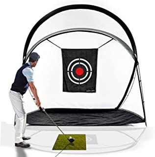 GALILEO Golf Hitting Net Driving Range Golf Practice Nets for Backyard Indoor Use with Target Carry Bag