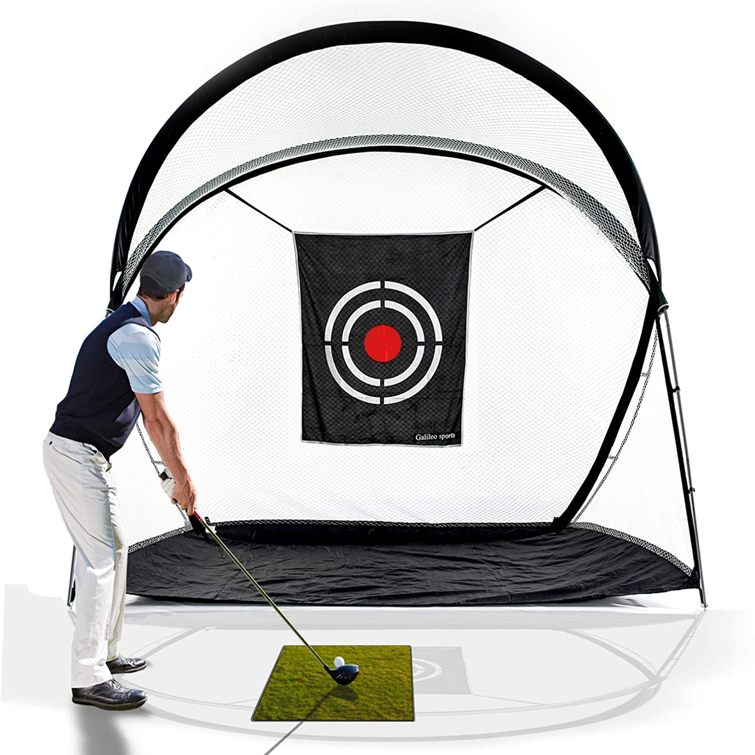 Galileo Golf Practice Net Training Hitting Driving Golf Net for Backyard Indoor Use with Target&Carry Bag10.5'(L) x5.5'(W) x8.6'(H) qghnajihz5948569