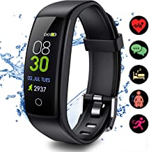 ELEGIANT 2019 Version Newest Color Screen Fitness Tracker HR, IP67 Waterproof Activity Trackers Watch with Heart Rate and Sleep Monitor, Smart Band Calorie Counter, GPS Pedometer for Women Men