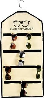 "Home-X Sungl Organizer for Closet, Hanging Organizer and Sungl Holder, Holds 20 Pairs of Gl, 31 ½"" L x 15"" W x 1"" H, Cream..."
