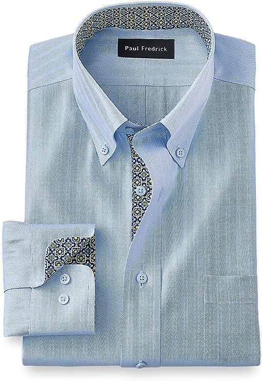 1930s Mens Shirts | Dress Shirts, Polo Shirts, Work Shirts Paul Fredrick Mens Classic Fit Non-Iron Cotton Solid Dress Shirt  AT vintagedancer.com
