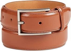 Ryan Seacrest Distinction Cognac Men's Small Leather Belt