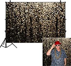 Allenjoy 10x8ft Gold Bokeh Spots Backdrop(Not Glitter) for Selfie Birthday Party Pictures Photo Booth Shoot Graduation Prom Dance Decor Wedding Astract Shining Dot Studio Props Photography Background