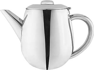 Café Olé EHT-012 Café Ole Everyday Economy Ware 18/10 Stainless Steel Tea Pot with Hinged Lid, 12oz