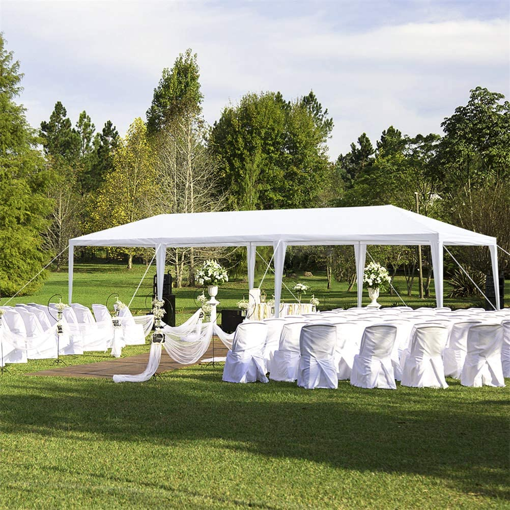 White Tangyan Pop Up Canopy 10x10 FT Outdoor Commercial Gazebos ...
