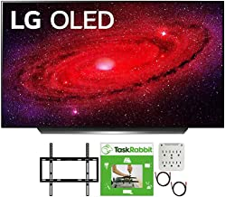 LG OLED48CXPUB 48 inch CX 4K Smart OLED TV with AI ThinQ 2020 Bundle with TaskRabbit Installation Services + Deco Gear Wal...