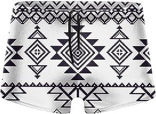 Camera Doodle Pattern Men's Beach Swimming Trunks Boxer Brief Swimwear Underwear Board Shorts