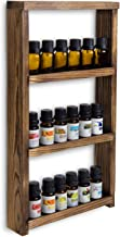 MyGift 3-Tier Rustic Dark Brown Burnt Wood Wall-Mounted Essential Oil/Nail Polish Retail Display Shelf Rack